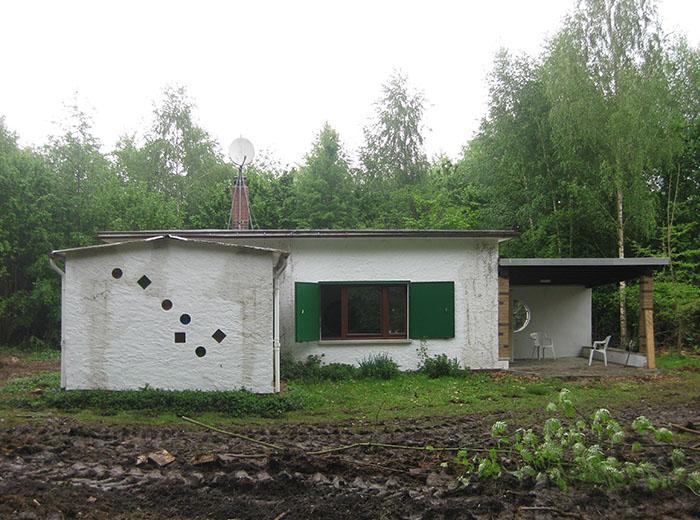 Ansicht des Grundstücks mit dem Bestandsgebäude